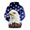 Image of Newest Style USA Eagle Sweatshirt Hoodies - 3D Printed Hoodies - Pullover Jacket
