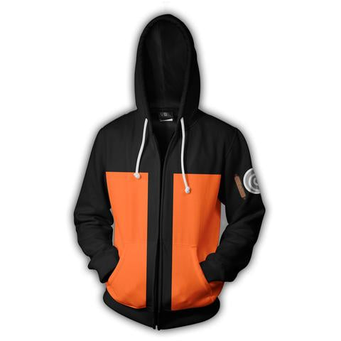 NARUTO ZIP UP HOODIE - NARUTO SHIPPUDEN CLOTHING - ANIME HOODIES AND SHIRTS