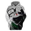 Image of KAKASHI PULLOVER HOODIE - NARUTO 3D PRINTED CLOTHING - ANIME HOODIES