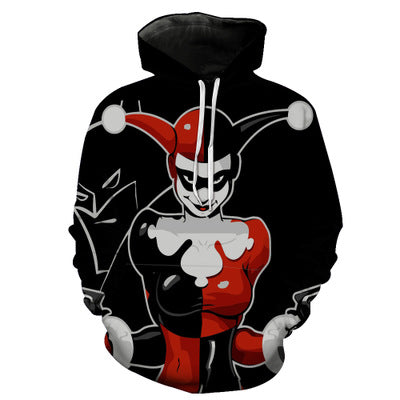 New Harajuku Clown King Sweatshirts Hoodies - 3D Printed Hoodies - Pullover Jacket