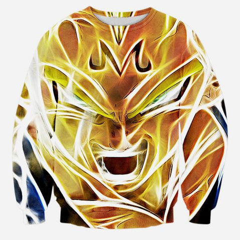 DRAGON BALL Z - SUPER SAIYAN MAJIN VEGETA (LONG SLEEVES) - 3D DBZ LONG SLEEVES