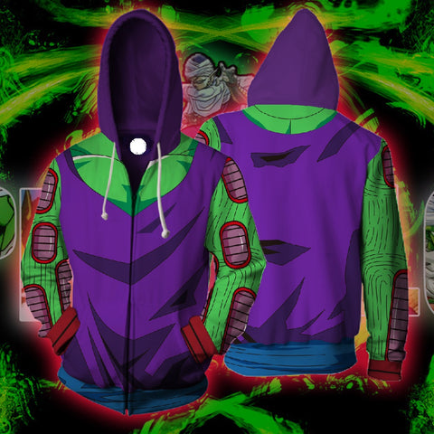 DBZ SUPER - PICCOLO 3D ARMOUR ZIP UP HOODIE - DBZ CLOTHING