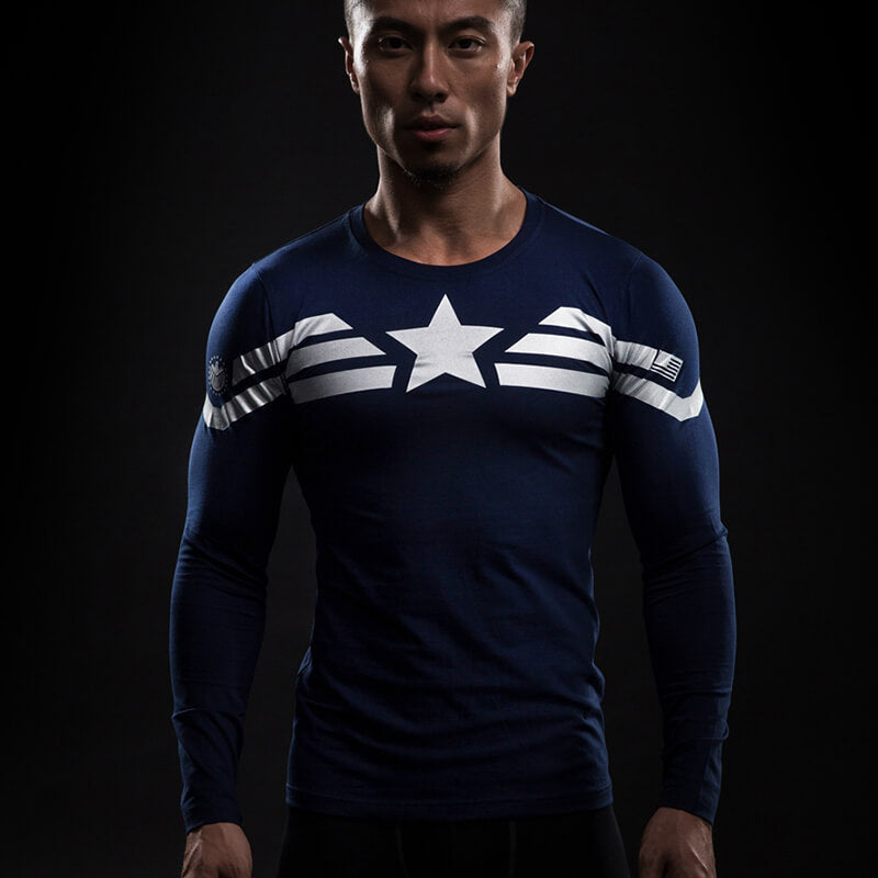 CAPTAIN AMERICA - ITS TRAINING TIME (LONG SLEEVES) - 3D LONG SLEEVES
