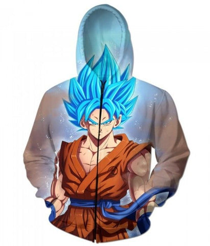Goku Super Saiyan God (Zip-up Hoodie)