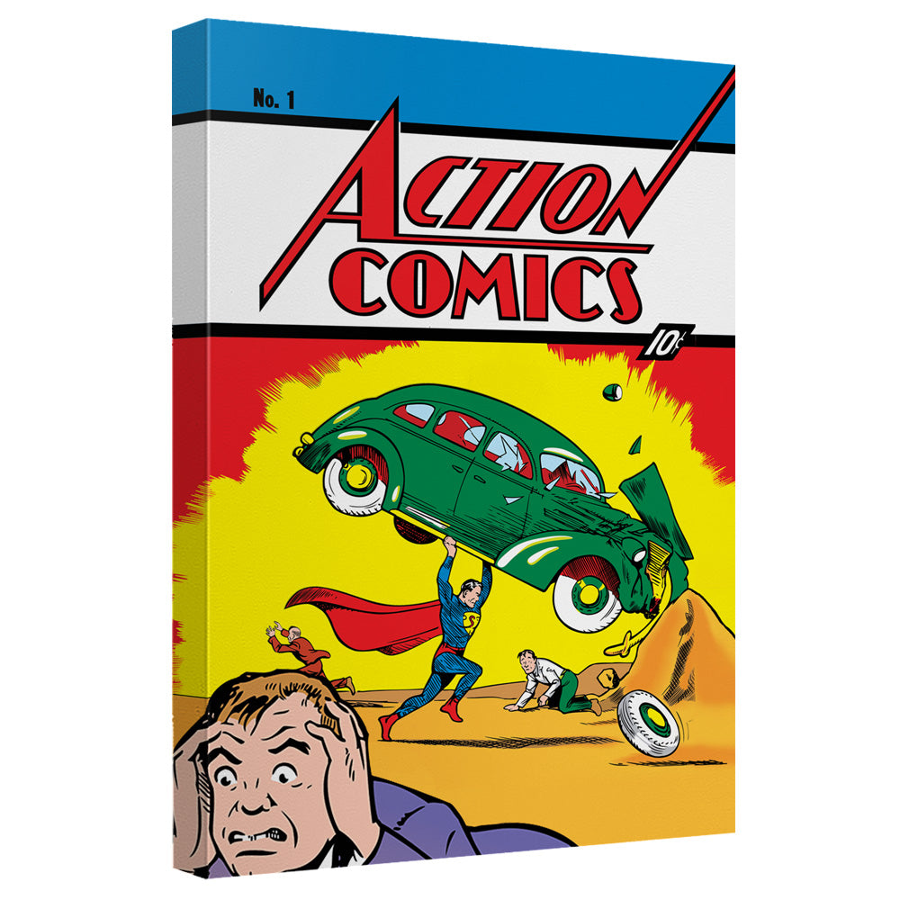 Superman - Action Comics 1 Canvas Wall Art With Back Board – Anime Gears