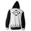 Image of SHUNSUI KYŌRAKU 8TH DIVISION ARMOUR ZIP UP HOODIE BLEACH - 3D BLACK JACKET