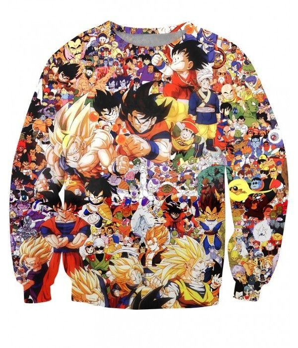 DRAGON BALL Z - ANIME MANGA CHARACHTERS  (LONG SLEEVES) - 3D PRINTED LONG SLEEVES