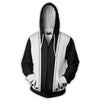 Image of BLEACH 1ST DIVISION ZIP UP JACKET - 3D BLACK ARMOUR HOODIE