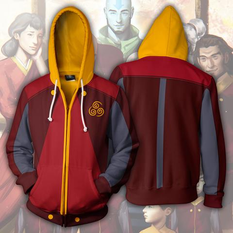 AVATAR THE LAST AIRBENDER HOODIES - AIR NATION ZIP UP HOODIE - 3D JACKET