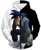 Image of DRAGON BALL SUPER Z HOODIES - Black Goku Evil Thinking Moment Hoodie - DBZ 360 CLOTHING