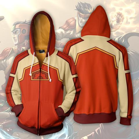 AVATAR THE LAST AIRBENDER HOODIE - FIRE FERRET ZIP UP HOODIE - 3D ARMOUR JACKET
