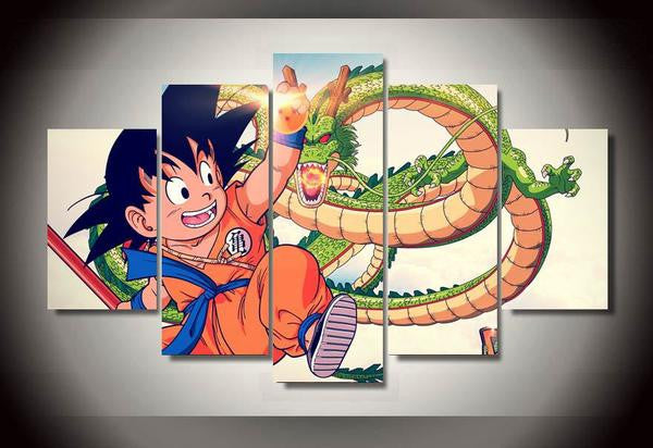 Dragon ball Kid Goku Canvas