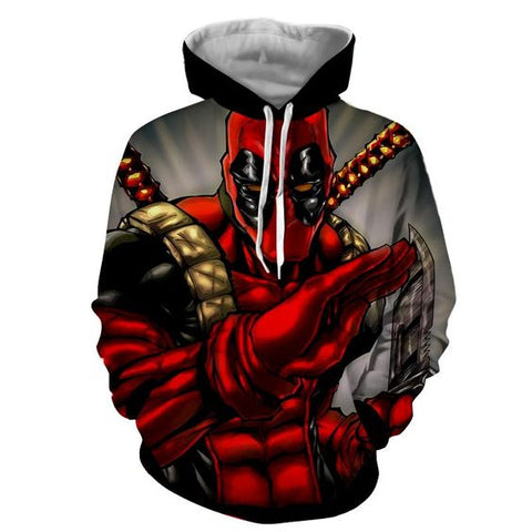 Deadpool Hoodies - 3D Printed Hoodie - Superhero Pullover Jacket