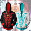 Image of THE LEGEND OF KORRA VAATU AND RAAVA HOODIE - VAATU AND RAAVA ZIP UP HOODIE- 3D ARMOUR JACKET