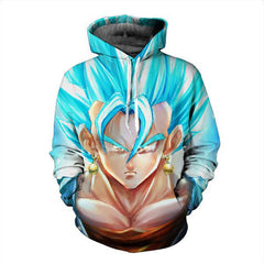 DRAGON BALL Z - SSG GOD VEGITO PULLOVER ANIME HOODIE - 3D CLOTHING