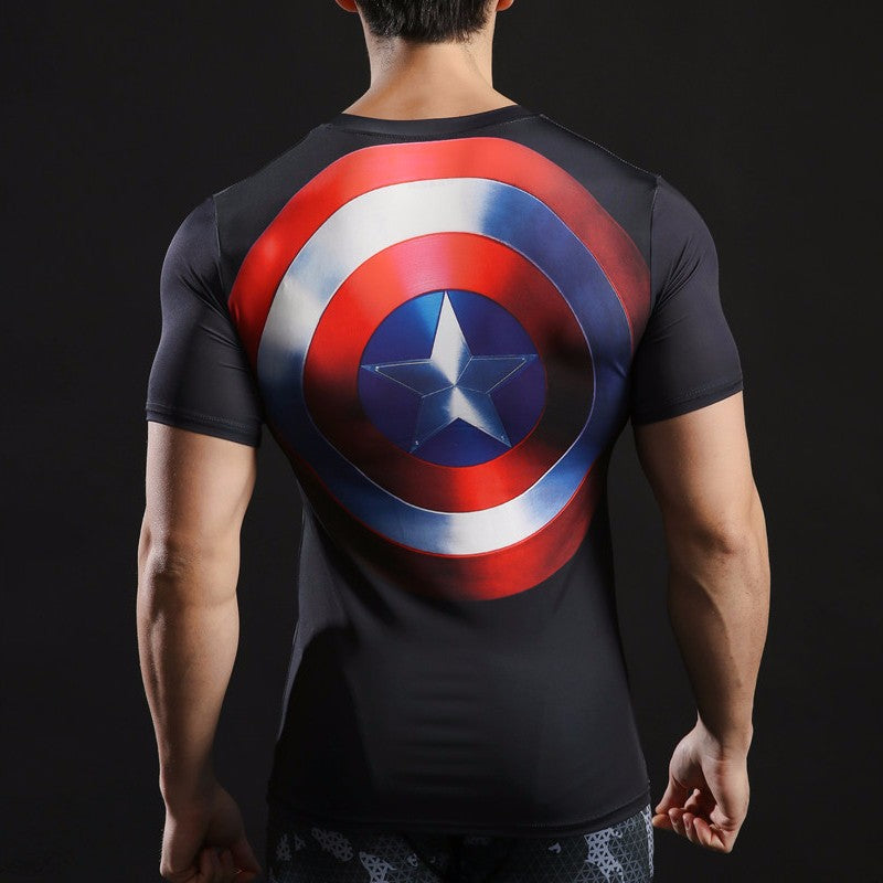Captain America 3D Printed T Shirt