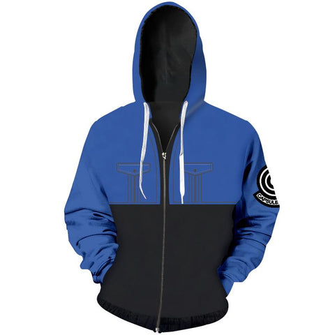 Dragon Ball Z - Blue 3D Printed Hoodie - 3D CLOTHING DBZ