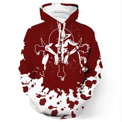 One Piece - Portgas D. Ace Red Pullover Hoodie - 3D Printed Hoodie