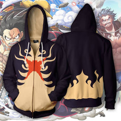 One Piece - 3D Printed Zip Up Hoodie - Anime Hoodie