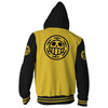 Image of TRAFALGAR LAW LOGO ONE PIECE ARMOUR ZIP UP HOODIE - YELLOW 3D JACKET