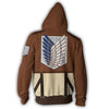 Image of ATTACK ON TITAN EREN YEAGER ARMOUR ZIP UP HOODIE - 3D JACKET
