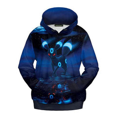 POKEMON 3D PRINTED BLUE COLOURED HOODIE - ANIME HOODIES AND SHIRTS