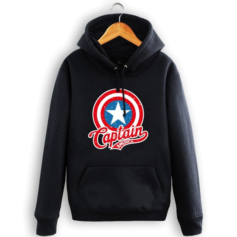 Hot Captain America Shield  Sweatshirt Men Hoodies - 3D Printed Hoodies - Pullover Jacket