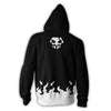 Image of BLEACH HOLLOW ICHIGO ARMOUR ZIP UP HOODIE - 3D BLACK JACKET