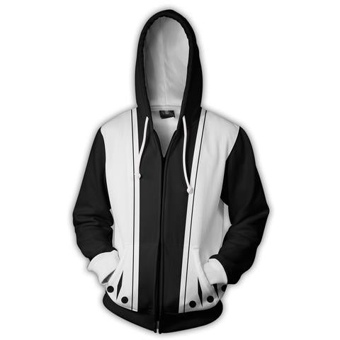BLEACH 6TH DIVISION ZIP UP JACKET - 3D BLACK ARMOUR HOODIE