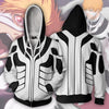 Image of ICHIGO FULLBRING FORM ARMOUR ZIP UP HOODIE - 3D WHITE JACKET