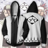 Image of BLEACH 6TH DIVISION ZIP UP JACKET - 3D BLACK ARMOUR HOODIE
