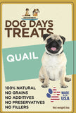 All Natural Single-Ingredient Quail Sticks - 5 ounce package