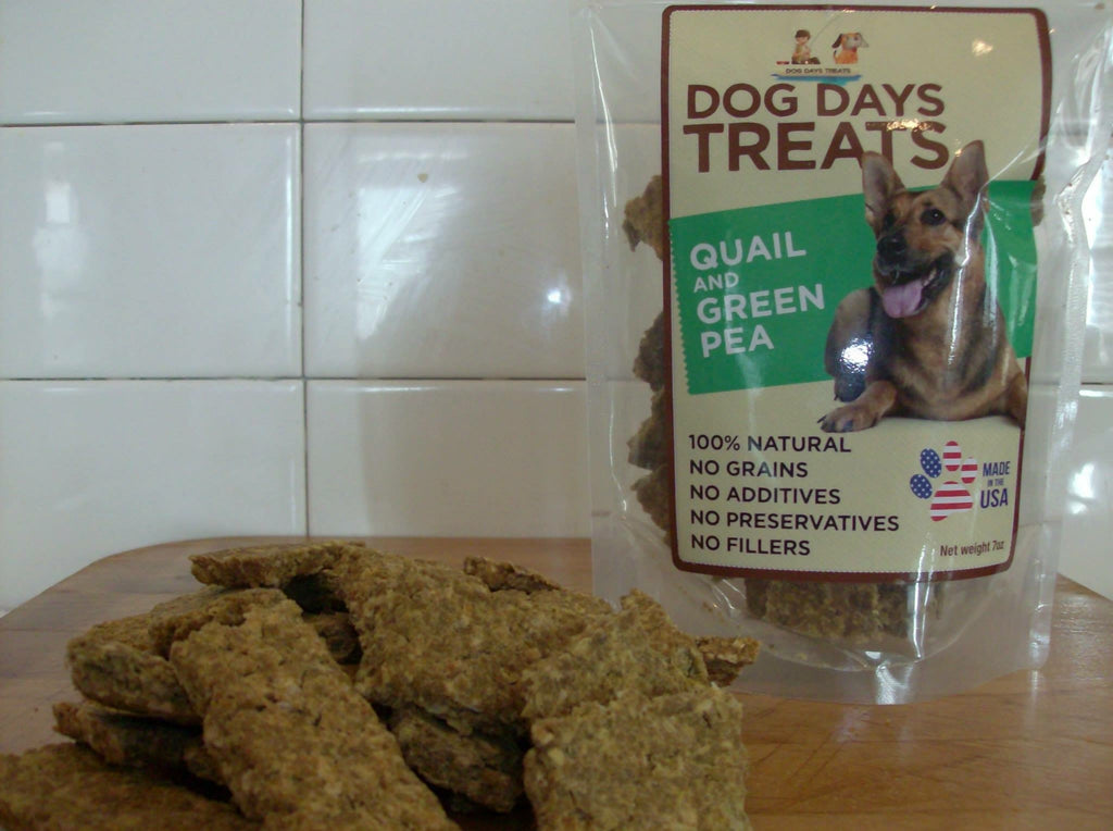 All Natural Quail and Green Pea Strips - 7 ounce package