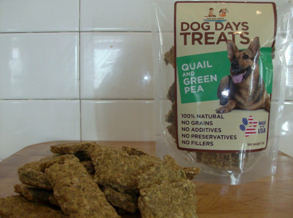 Dog Treats made from Quail and Peas