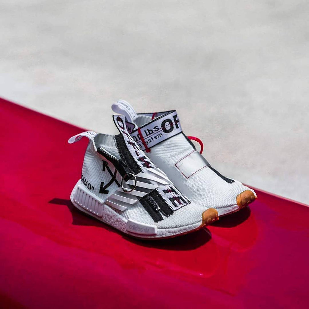 THESE OFF-WHITE ADIDAS ORIGINALS NMD CS1 CUSTOMS - PURE FLAMES?