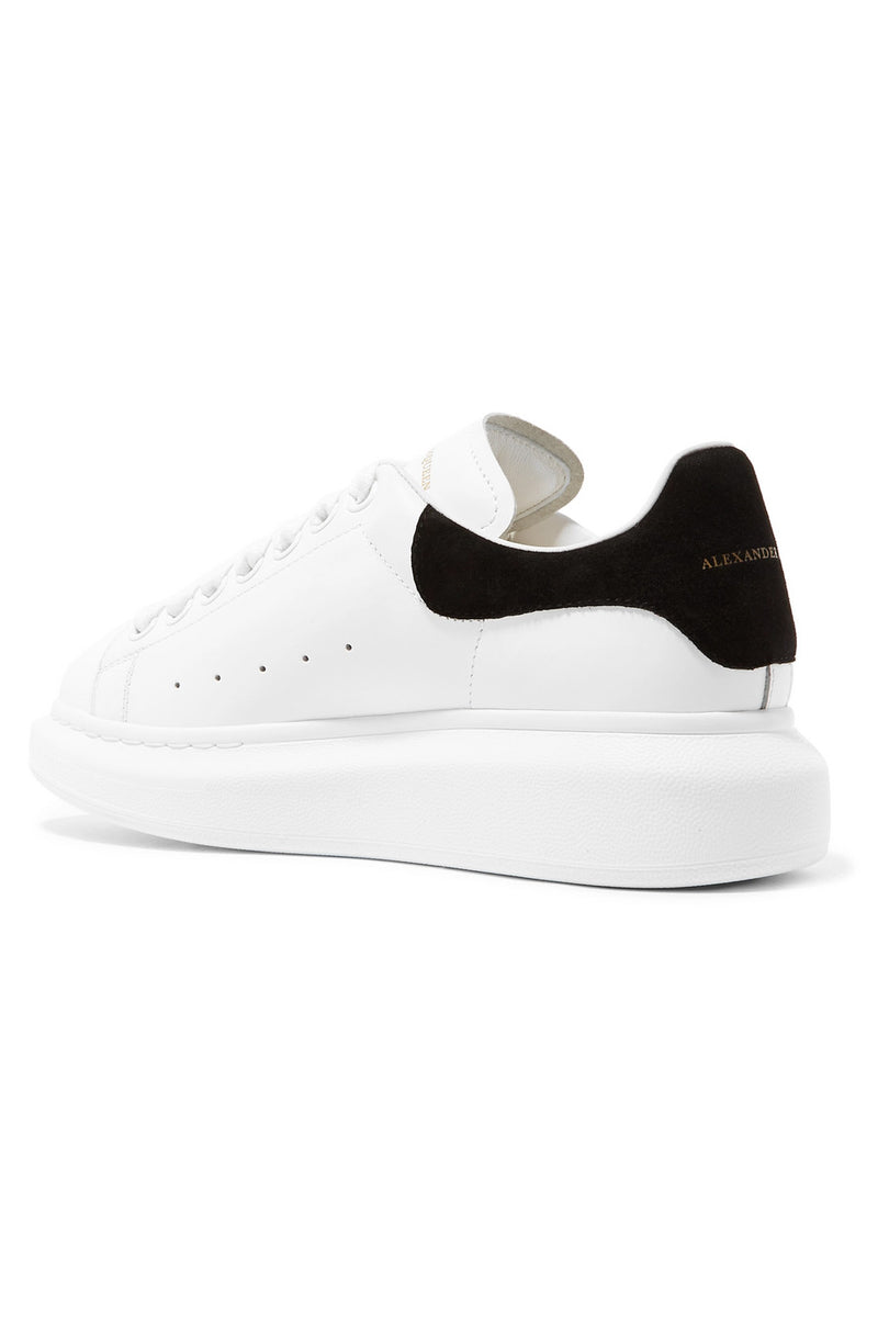 ALEXANDER MCQUEEN OVERSIZED LOW TOP WHITE BLACK SUEDE SNEAKER