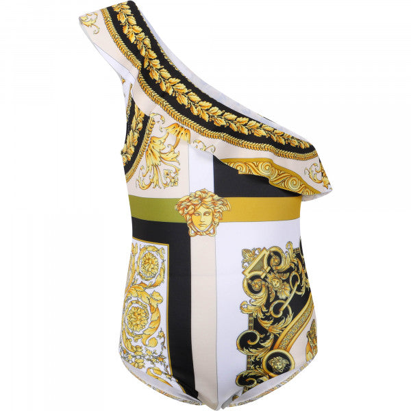 Young versace 'Barocco' one-piece swimsuit