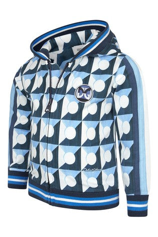 DOLCE & GABBANA KIDS Boys Blue Cotton Zip Up Top