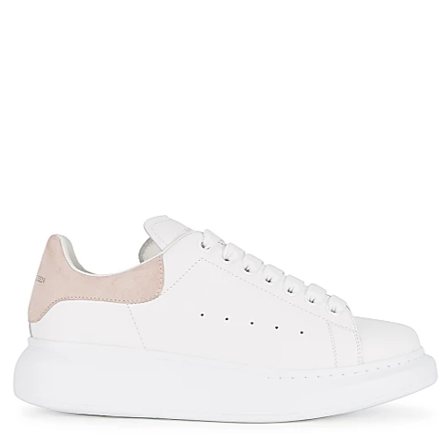 ALEXANDER MCQUEEN OVERSIZED LOW TOP WHITE LIGHT PINK SUEDE SNEAKER