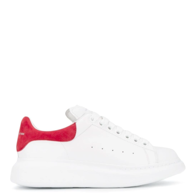 ALEXANDER MCQUEEN OVERSIZED LOW TOP WHITE RED SUEDE SNEAKER