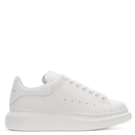 ALEXANDER MCQUEEN OVERSIZED WHITE LEATHER SNEAKER