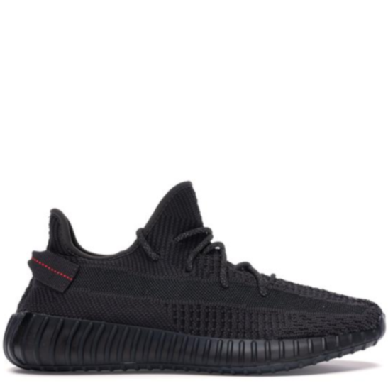(NEXT DAY) YEEZY Boost 350 V2 Black/Red UK3.5