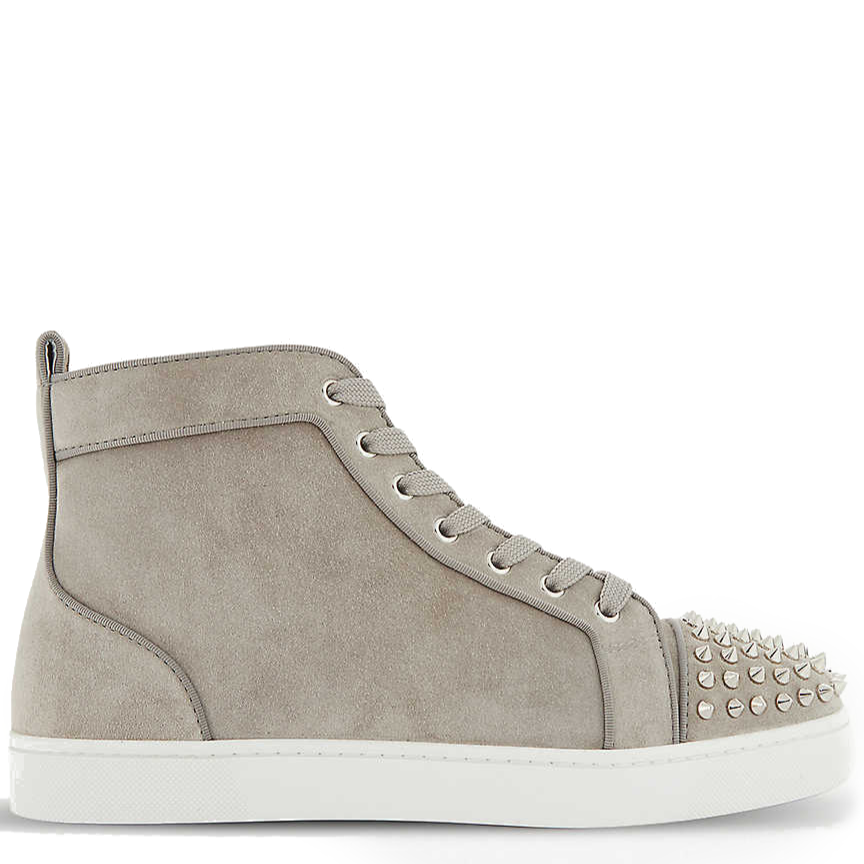 (NEXT DAY) CHRISTIAN LOUBOUTIN Lou spikes orlato grey veau EU41