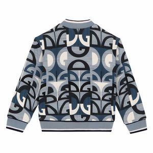 DOLCE&GABBANA Boys Zip-Up Sweatshirt With Geometric DG Print
