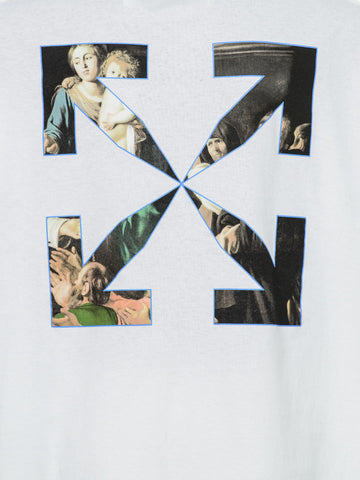 OFF-WHITE  CARAVAGGIO PAINTING S/S OVER T-SHIRT WHITE