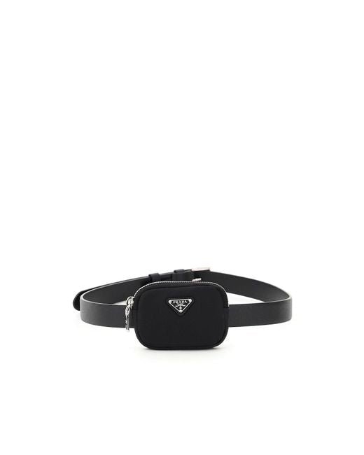 Prada Pouch application leather belt