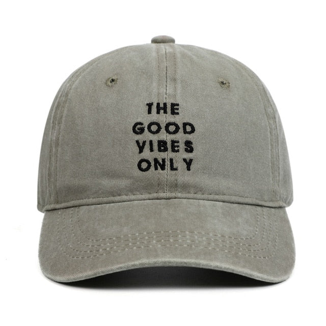 THE GOOD VIBES ONLY Dad Hats