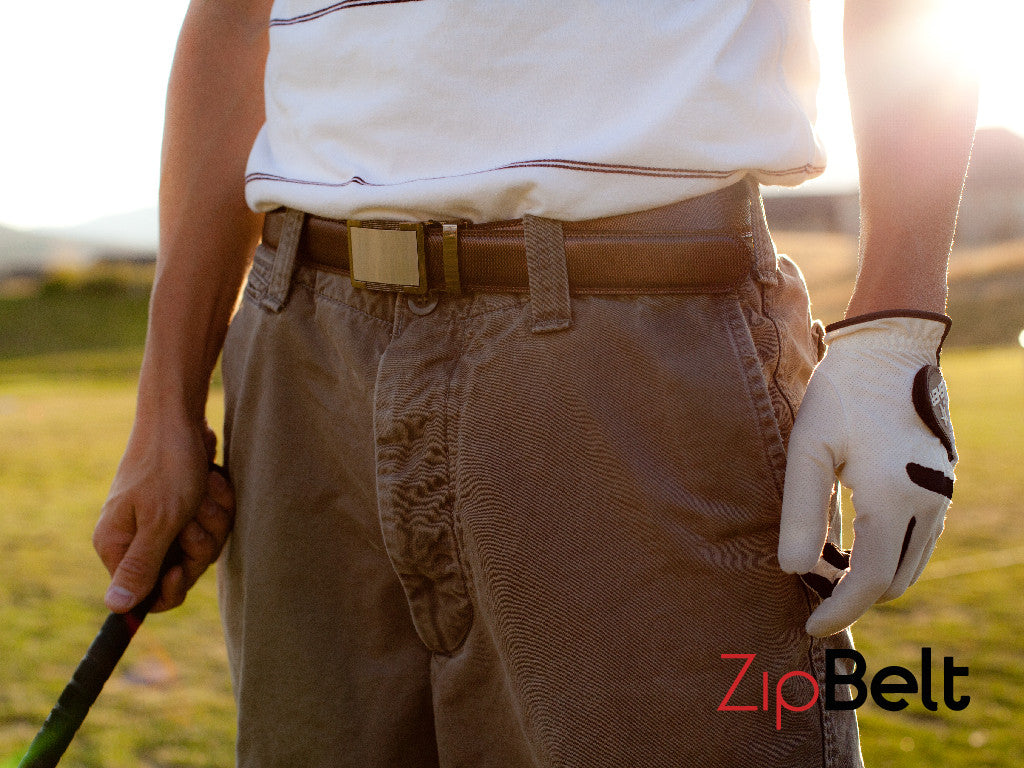 ZipBelt - Brown Belt and Buckle