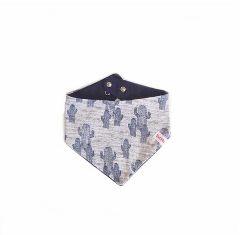 Cacti Blues Bandanna Bib