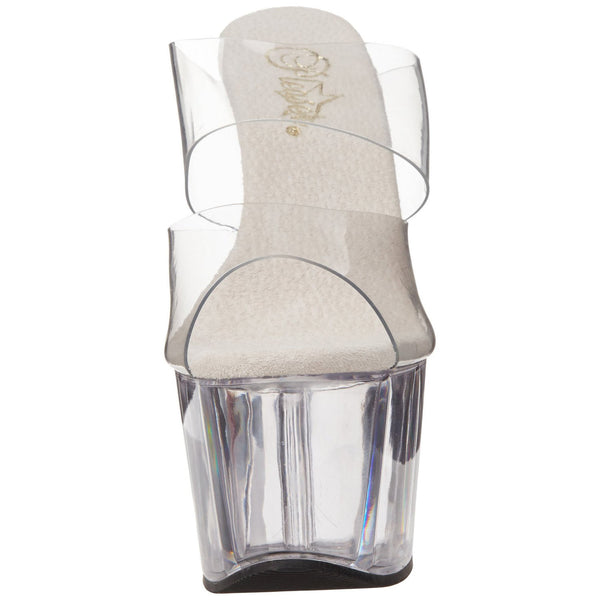PLEASER ADORE-702 Clear Stiletto Slides - Shoecup.com - 2